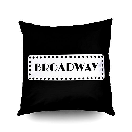 Capsceoll Broadway Musicals Decorative Throw Pillow Case 16X16Inch,Home Decoration Pillowcase Zippered Pillow Covers Cushion Cover with Words for Book Lover Worm Sofa Couch