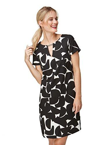 Bonita Franziska Kleid Damen Black Knuppe Deep prPpnw5qax