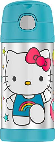 Termo Funtainer botella de 12 onzas, Hello Kitty, colores surtidos