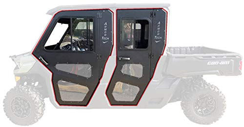 Steel Doors Only for Cab Enclosure Can Am Can-Am 2016 17 18 19 Defender Max -  CRU Products, UC865, UC865X