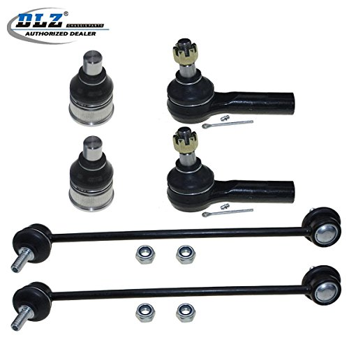 - DLZ 6 Pcs Front Suspension Kit-2 Lower Ball Joint 2 Outer Tie Rod End 2 Sway Bar Compatible with 2001 2002 2003 2004 2005 2006 2007 2008 2009 Ford Escape Mazda Tribute 2005-2009 Mercury Mariner
