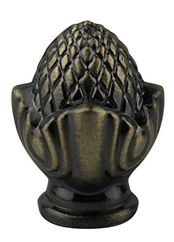 Urbanest Clara Lamp Finial, 1 7/16-inch Tall, Antique Brass ()