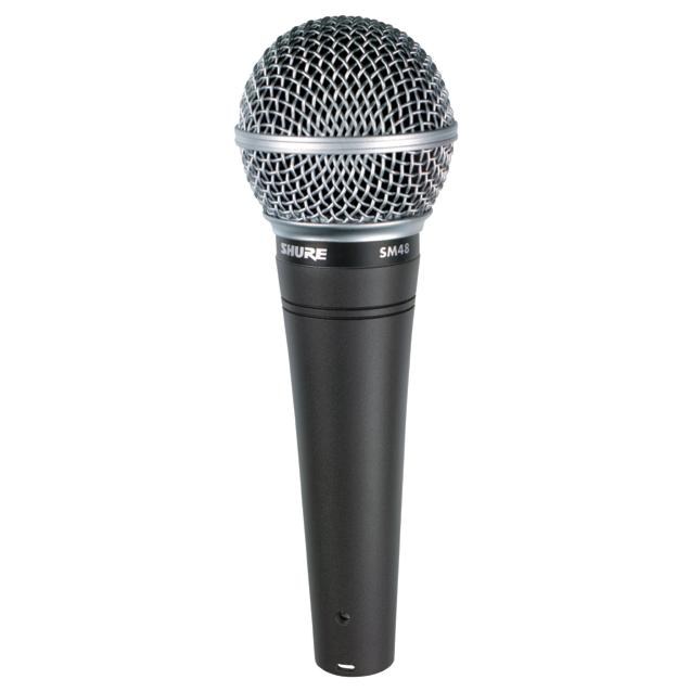 shure sm48 lc vocal dynamic microphone cardioid musical instruments