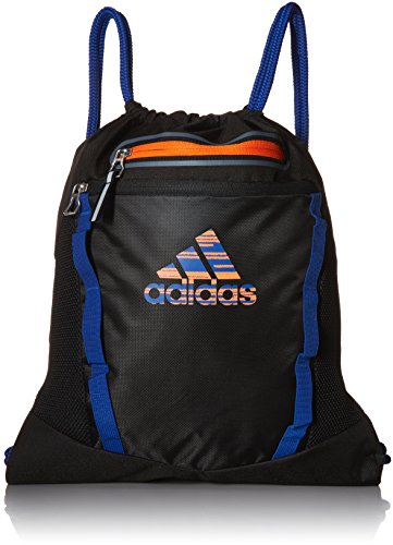 adidas Rumble II Sackpack, Black/Collegiate Royal/Orange, One Size