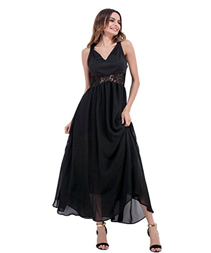 Black Party Black2 Long Dresses Sexy Women's Dress Straps Beach Backless Spaghetti Borje qzZYAc