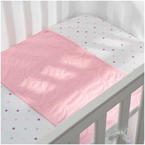 BreathableBaby Wick-Dry Plush Sheet Saver- Pink Mist