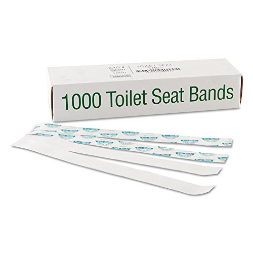 1.5X16 Toilet Seat Band Whi Kft Ppr Blu/Yel 1M by Bagcraft Papercon