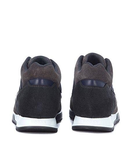 Hogan Sneakers H321 in Suède Blau & Grau Bunt