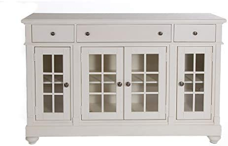 Liberty Furniture Industries Harbor View II Dining Buffet, W66 x D19 x H42, Linen Finish