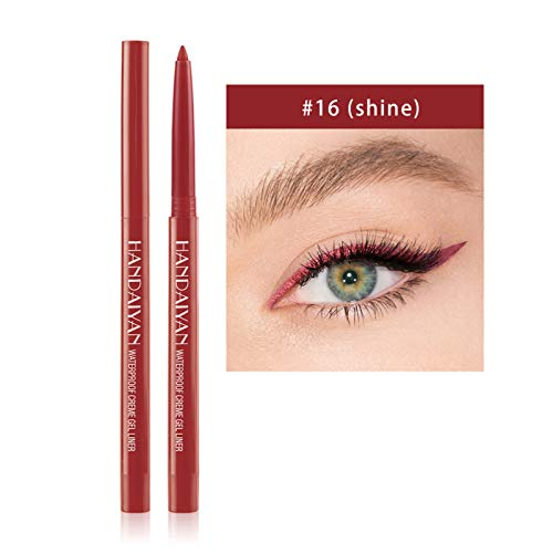 Liquid Shiny Smoky Glitter Liner Makeup Pen-Eyeliner for Beginners Quick-Drying Waterproof Sweatproof and Long-Lasting Eyeliner (1PC-P)