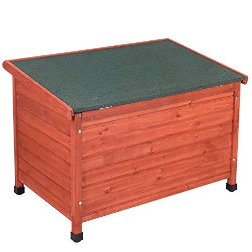 Caseta de madera para perro, techo plano: Amazon.es: Productos para mascotas