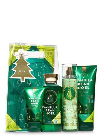 Bath & Body Works Vanilla Bean Noel Holiday Traditions Gift Set | Body Cream, Shower Gel, Fragrance Mist & Travel Body ()