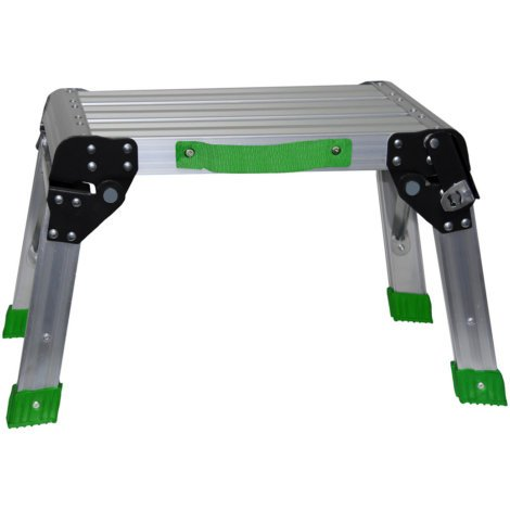 GRIP Aluminum Folding/Working Platform | Easily Unfolds to a Secure Locking Position