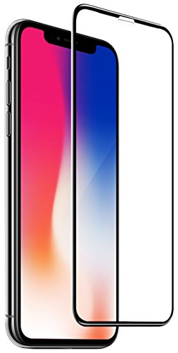 Nanaday [Full Coverage Tempered Glass] HD Clear Screen Protector for iPhone X (Case Friendly) Highest Quality Easy Install [2 Pack ] with Lifetime Replacement Warranty – Retail Packaging