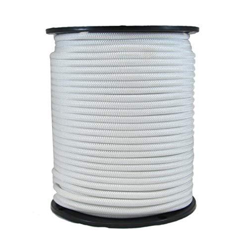 color blanco Cuerda el/ástica de 5 mm BESTVALUETHINGS 20 m