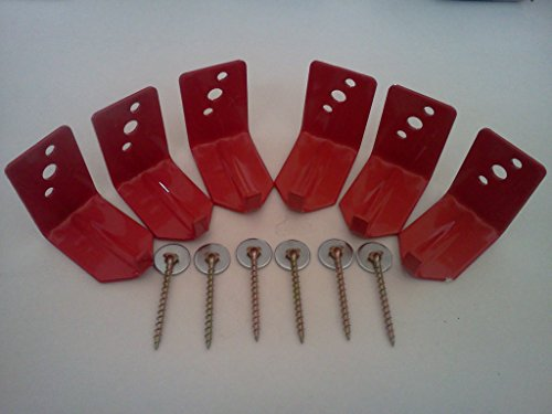 (6 Pack) – Universal Fire Extinguisher Wall Hook, Mount, Bracket, Hanger for 15 to 20 Lb. Extinguisher – FREE SCREWS & WASHERS INCLUDED
