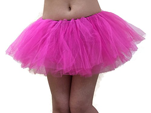 [Rush Dance Women's Organze Sexy Rave Costume Tutu (Adult, Hot Pink)] (Hot Costumes For Teens)