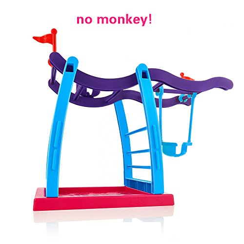 Jimps Fingering Monkey Swing Stand   Bar   Playground  Interactive Baby Monkey Playset For Fingerling Monkey Toy  Jungle Gym For Finger Baby Monkey  Without Monkey