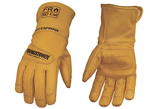 Youngstown Glove 11-3285-60-XL Flame Resistant Waterproof Leather Utility Lined with Kevlar Gloves, X-Large - 11 Cut Resistant Gloves