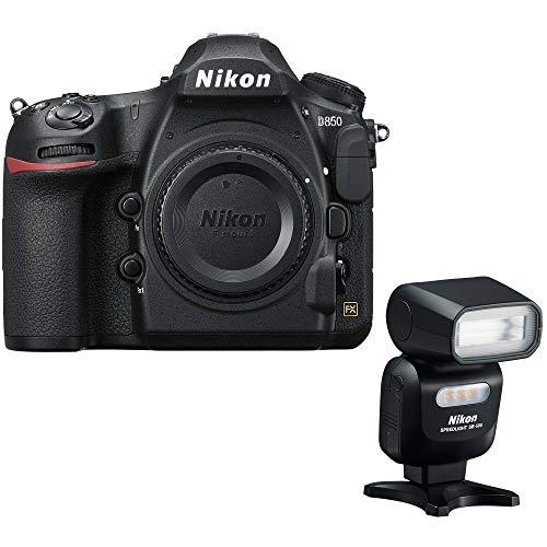 Nikon D850 45.7MP Full-Frame FX-Format Digital SLR Camera (Renewed) with SB-500 AF Speedlight Flash