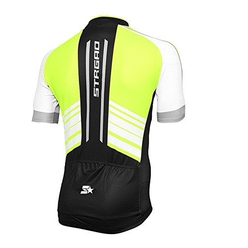 STRGAO Hommes Breathable Cycling Manches Courtes Cycling Jersey Vêtements Sports et Loisirs Maillot de Cyclisme Manches Courtes M