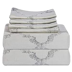 Just Linen King Size 108 x 102 inches Duvet Cover Set - 6 Pieces