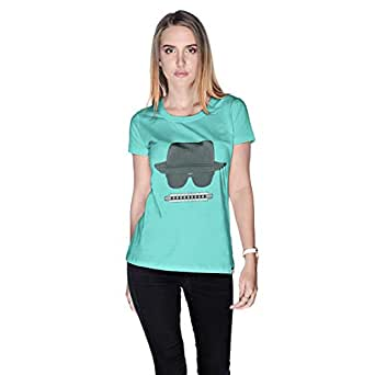 Creo Beach Hat Glasses T-Shirt For Women - L, Green