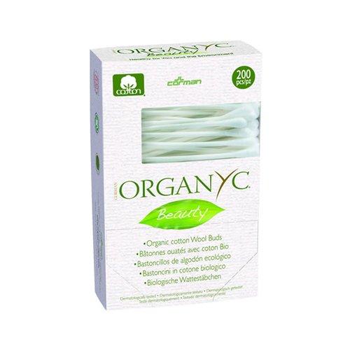 2 Packs of Organyc Beauty Cotton Swabs - 200 Pack