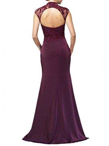 Chifon Spitze Abendkleider Brautmutterkleider Partykleider mia Kleider Rot La Dunkel Formalkleider Elegant Langes Jugendweihe Brau tIqxtpaY
