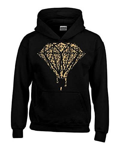 Bleeding Melting Dripping Cheetah Hoodie Fashion Sweatshirts Black (Cheetah Print Hoodie)