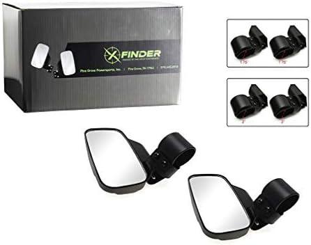 UTV Side Rear View High-Definition Convex Mirrors Polaris Ranger Accessory Great Side by Side Mirror for RZR XP1000 900 800 Ranger XFinder X-MI013 1.75 Side