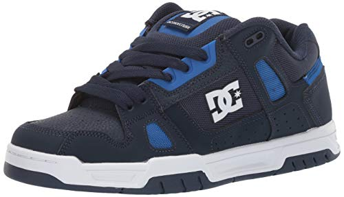 DC Men's STAG Skate Shoe, Black/Blue, 11 M US
