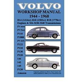 volvo 1944 1968 workshop manual pv444 pv544 p110 p1800 pv445 rh amazon com