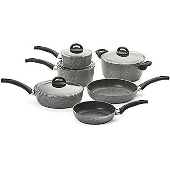 Amazon Com Bialetti 10 Piece Granito Cookware Set Gray
