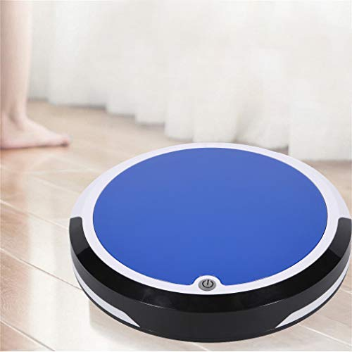 - Maikouhai 400ML Rechargeable Intelligent Sweep Robot Vacuum Cleaner Floor Cleaner Sweeping Machine for Pet Hair, Crumbs, Dust, Debris, Paper Clips - 8W, 100-120Mins Use Time (Blue)