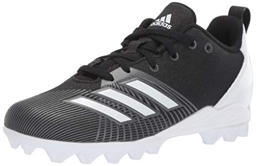 adidas Unisex Adizero Spark Md Football Shoe, Black/White/Night Metallic, 6 M US Big Kid