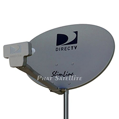 DIRECTV SLIM LINE KAKU3 (4 outputs) COMPLETE DISH KIT PORTABLE CAMPING RV TAILGATE KIT SLIMLINE DISH SL3 WITH 3FT TRIPOD & COAXIAL RG6 & HDMI CABLE by PHAT SATELLITE INTL