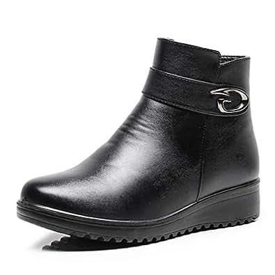 Amazon.com | Women's Winter Fashion Soft Leather Shoes