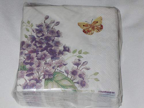 Lenox Orange Sulphur Butterfly Meadow by CR Gibson Cocktail Beverage Napkins 40 Count -
