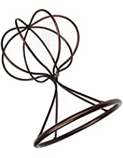 shamjina Balloon Shape Table Decorative Wigs Hat Fedora Display Storage Rack Stand Bronze - Bronze, 22cm