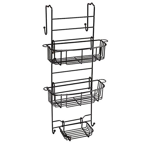 Oil Rubbed Bronze Over the Shower Door and Tub Enclosure Btahroom Shower Caddy