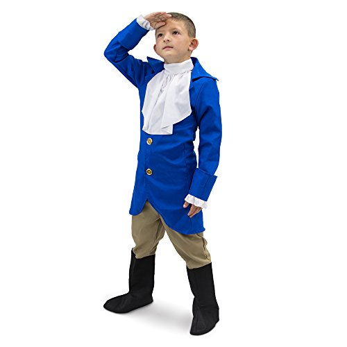 George Washington Costume Youth (George Washington Children's Boy Halloween Dress Up Theme Party Roleplay & Cosplay Costume (Youth X-Large (10-12)))