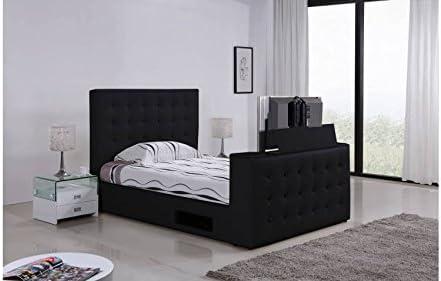 Cama acolchado TV Adolfo 180 cmx200 cm negro sin colchón con ...