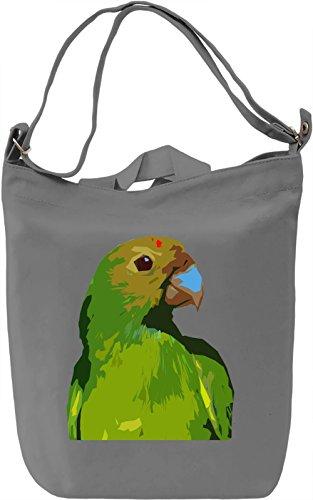 Parrot Borsa Giornaliera Canvas Canvas Day Bag| 100% Premium Cotton Canvas| DTG Printing|