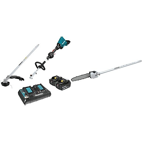 Makita XUX01M5PT 18V X2 (36V) LXT Lithium-Ion Brushless Cordless Couple Shaft Power Head Kit with String Trimmer Attachment (5.0Ah) with EY401MP 10