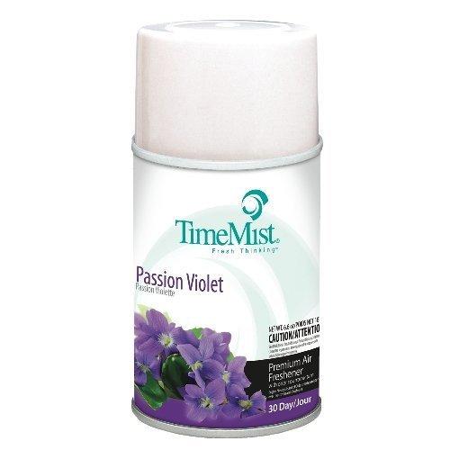 Timemist TMS 2962 Premium Metered Air Fresh 5.3 Oz Aerosol Pssn Violet - Case of 12 by Waterbury - Waterbury Stores