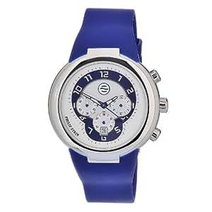 Philip Stein Men's 32-AN-RN Quartz Stainless Steel Blue Dial Watch