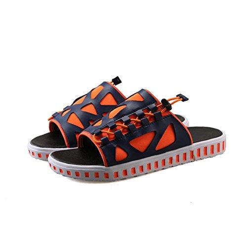 Al Naranja Respirables De De 42 tamaño De Color Hombres Libre 3 Los Los Cuero Naranja Pantuflas EU Wangcui 2 Aire Deslizadores Jóvenes Pantuflas gXqnEX7a