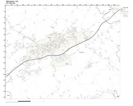 ZIP Code Wall Map of Abingdon, VA ZIP Code Map Laminated: Amazon