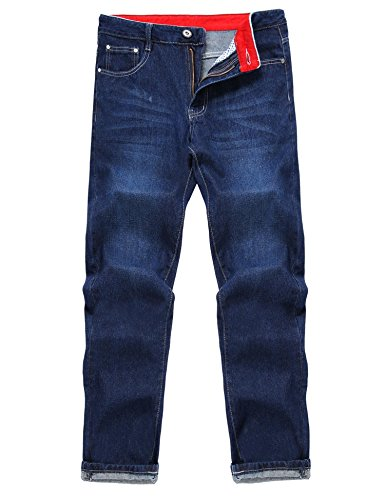 Spandex Zip Fly Jeans - Gotchicon Men Fashion Mid Waist Zip Fly 5 Pockets Regular Fit Jeans